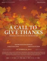 A Call to Give Thanks Church Flyer Template by loswl