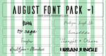 August Font Pack #1 by n00b-toshi