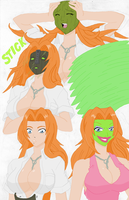 Rangiku Matsumoto Becoming the Mask Colored by Firingwall