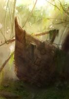 Overgrown Ship by DM7