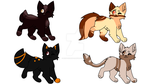 Warrior cat adopts (closed) by mack2349
