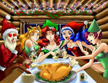 Xmas pic complete :D by Chibi-Narusegawa