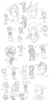Mabinogi Visits and Doodles by Lilblkrose