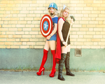 Captain and Thor by Trullso