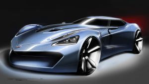 2030 Corvette Front by jp9109