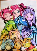 Anime Foals of the Mane 6 by LinaPrime
