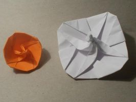 Origami Spinning top created and folded by me. by OrigamiFolder13