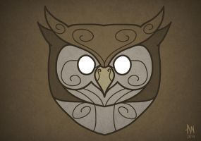 Owl mask by Adele-Waldrom