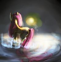 Fluttershy - Light by 9ofcups