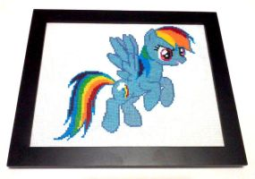 MLP: Rainbow Dash Wall Art Commission by cosplay-kitty