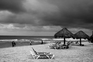 Stormy Day on the Beach by pubculture