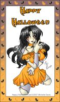 Happy Halloween Holiday Card by Msabrehaven
