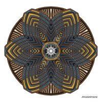Mandala drawing 39 Coloured v1 by Mandala-Jim