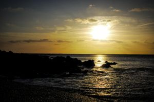 Sunset from the Jurassic Coast by lex-strat