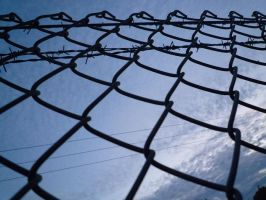 Wire Fence by Renire-Stock