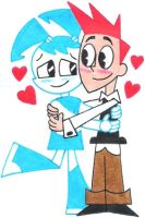Jenny and Brad Hugging by nintendomaximus