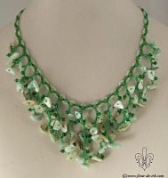 Twiggy in green necklace N1259 by Fleur-de-Irk