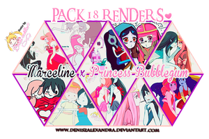 PACK RENDERS MARCELINE x PRINCESS BUBBLEGUM ~ by Utsutsu-chi