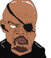 Avengers NICK FURY by holdypause