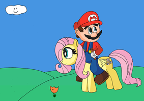 Mario and Fluttershy 1 by TMan5636