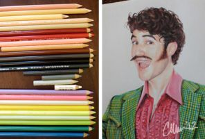 Disco Darren Drawing pencils by Live4ArtInLA