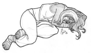 Sleeping... - Yu-Fei - Sketch by Thally