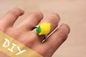 Lemon Ring Tutorial by PetitPlat