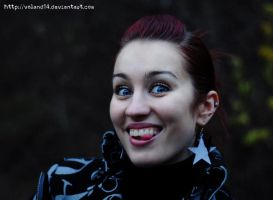 Girl with star and smile by voland14