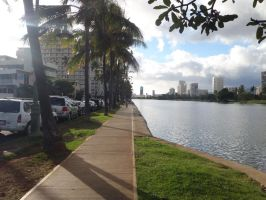 Ala Wai Canal - late afternoon by bmah