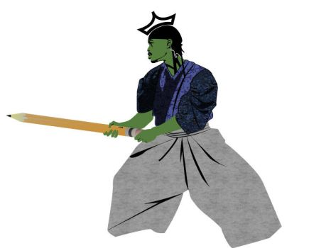 Abstract Samurai ME by niacmartian