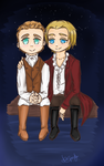 The mighty Hemsworth and Lord Hiddleston. by DeiiSpooky