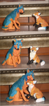 Rin and Ash Sculpture by VengefulSpirits