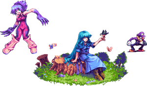 Commission Set 2 Sprites by AbyssWolf
