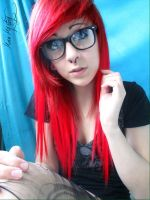 Red 'Emo Scene' Hair by MarieMystery