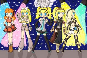 nintendo girls Vocaloid by ninpeachlover