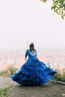 TARDIS wedding gown by Stahlrose