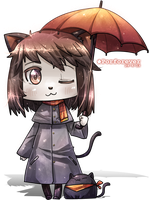 Chibi Rain Cat by Porforever