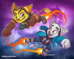 Zalno and Ratchet by SupaCrikeyDave