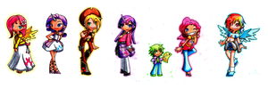 My Little Pony Humanized by littlecheese