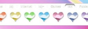 Anodized Heart Icons by TNBrat