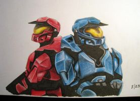 red vs blue by recycIops