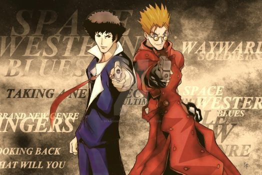 Vash and Spike by BrandonFranklin