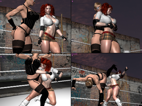 Rumble Roses. Candy Cane Versus Mistress 8 by DreamCandice