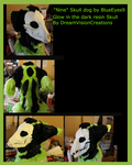 Nine of Nine Skull K9 Fursuit Mask by BlueEyes9