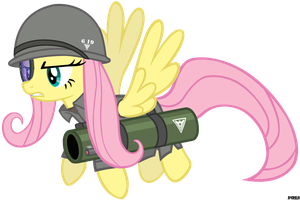 [RA Allied] Rocket Soldier Fluttershy by A4R91N