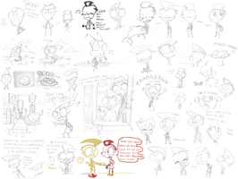 Invader Zim Sketchdump by SecretagentG