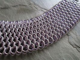 Dragonscale Cuff Lilac and Silver by BittersweetLuna