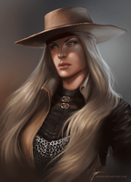 Commission - OC Portrait. by jodeee