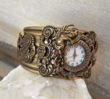 Baroque Goddess Cuff watch by Aranwen