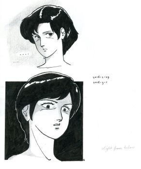 Two faces, black and white by L-Lokakuu